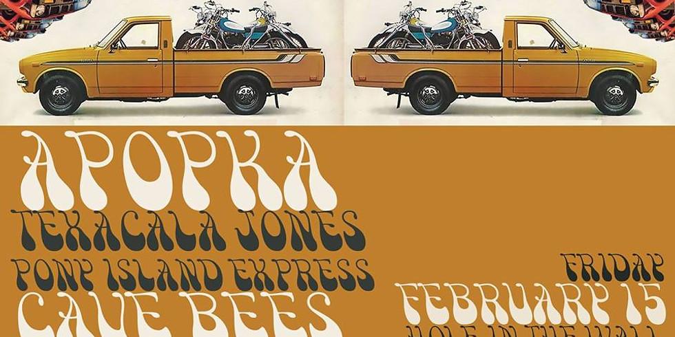 Apopka, Texacala Jones, Pony Island Express, Cave Bees