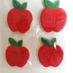 Teacher Apple Sugar Cookies