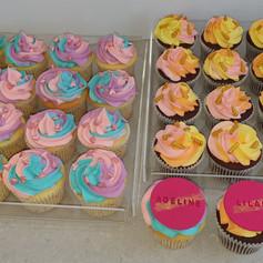 Lemon and Chocolate Birthday Cupcakes