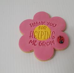 Teacher Flower Sugar Cookies