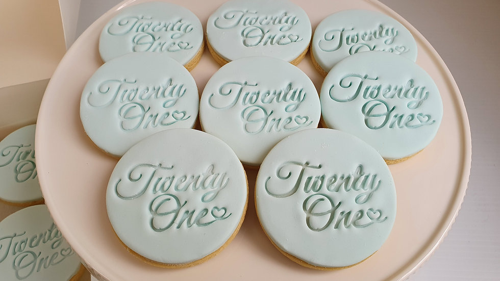 Personalised Fondant Sugar Cookies (12)