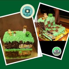 Minecraft Checkerboard Cake