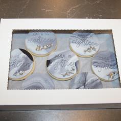 Marbled Fondant Personalised Cookies