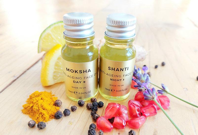 Moksha & Shanti (day & night) gift set. 2 x 10ml