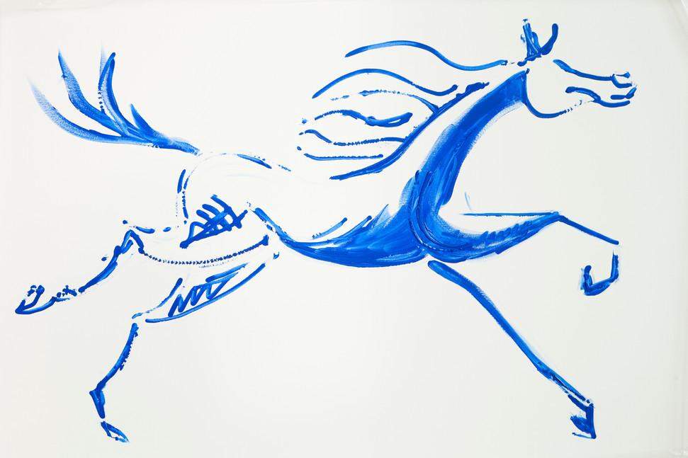 Blaues Pferd Ohne Reiter