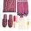 Thumbnail: Kırmızı Peştemal Bornoz Set 8 Parça % 100 Pamuk