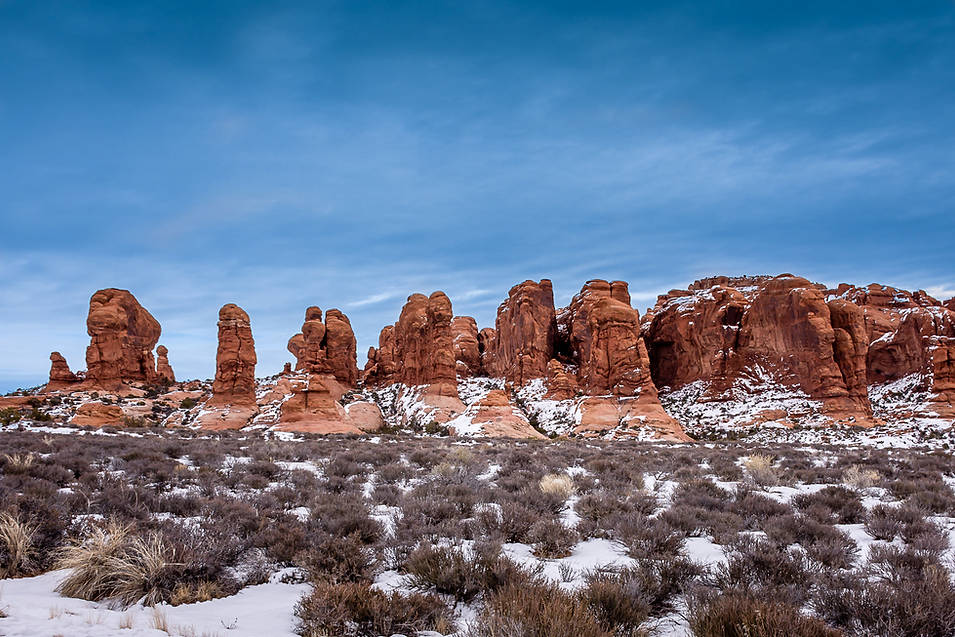Winter at Arches National Park