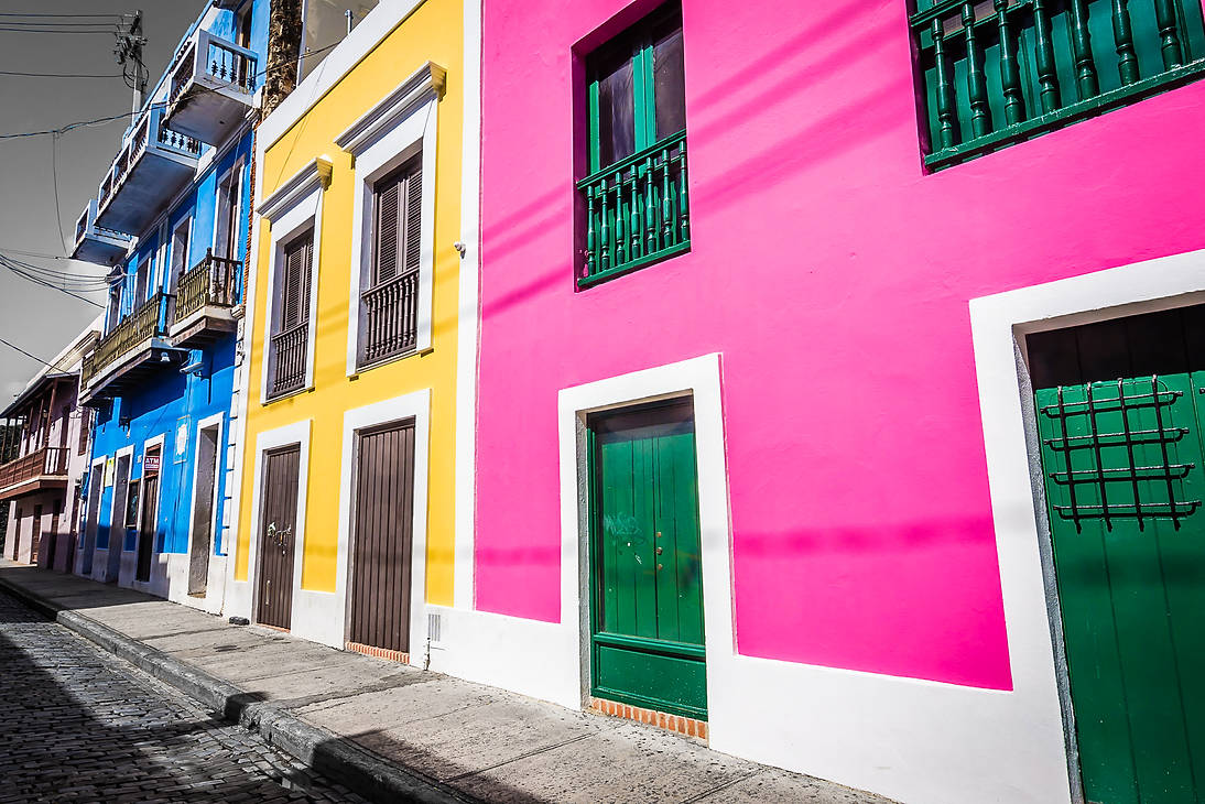 Pastel Buildings of Old San Juan