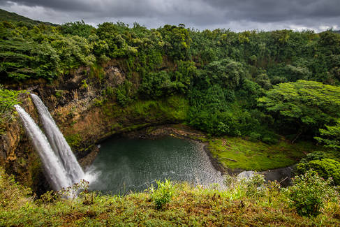 Storm Clouds over Wailua Falls