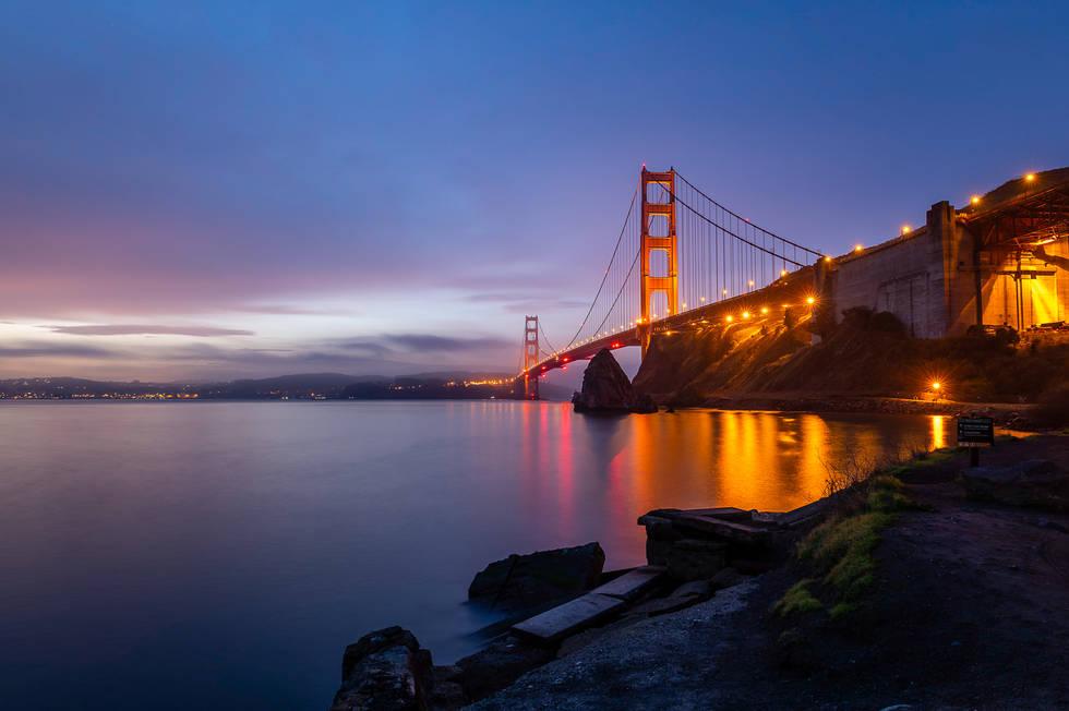The Golden Gate Bridge from Fort Baker