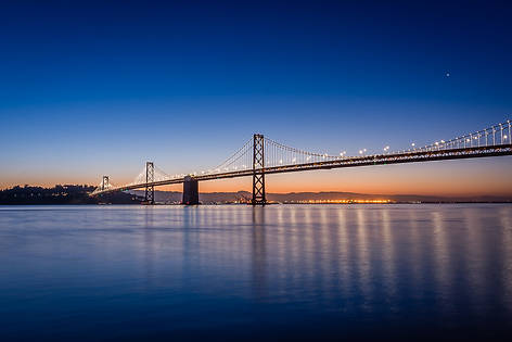Bay Bridge at Sunrise over the San Francisco Bay