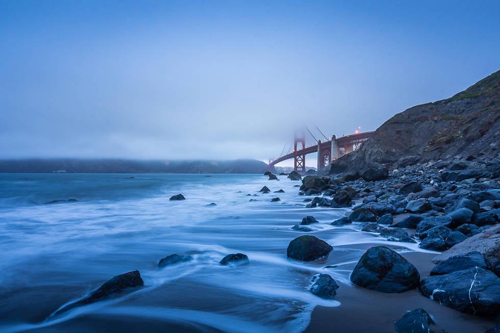 Foggy Day at Marshall Beach