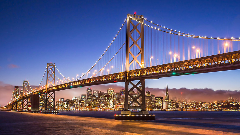 San Francisco Skyline from beneath the Bay Bridge