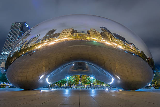 An Evening Reflection at Cloud Gate