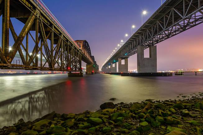 The Benicia-Martinez Bridge at Blue Hour