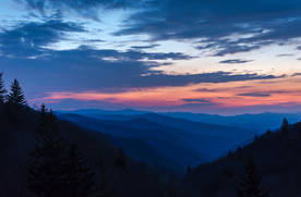 Great Smoky Mountains Blue Hour