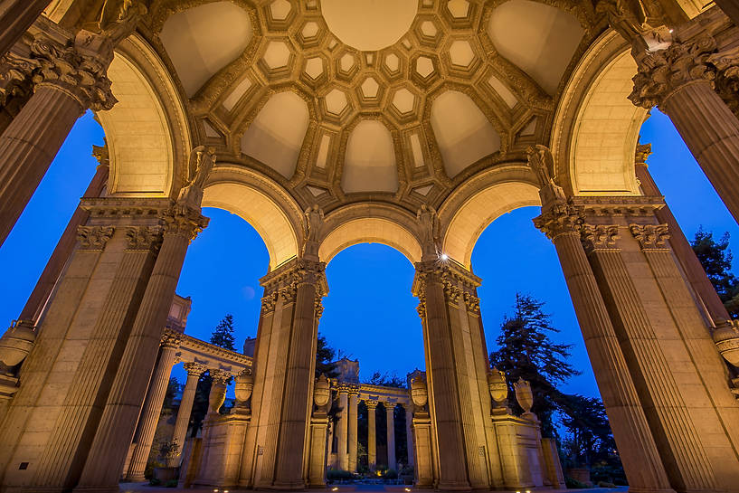 Under the Rotunda of the Palace of Fine Arts
