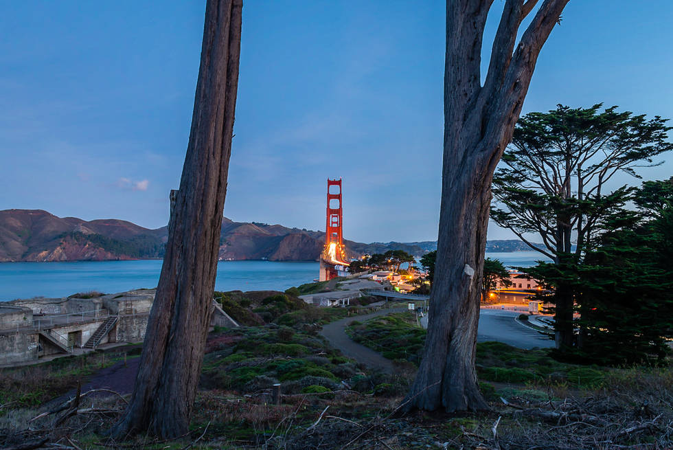 Daybreak from the Golden Gate Overlook