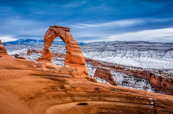 Arches Delicate Arch in Winter