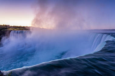 Misty Niagara Falls at Sunrise