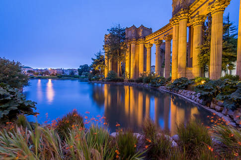 Morning Reflections from the Palace of Fine Arts