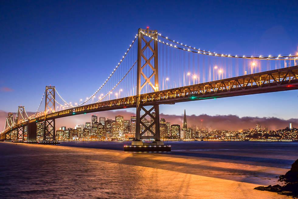 The Bay Bridge and Fog over San Francisco