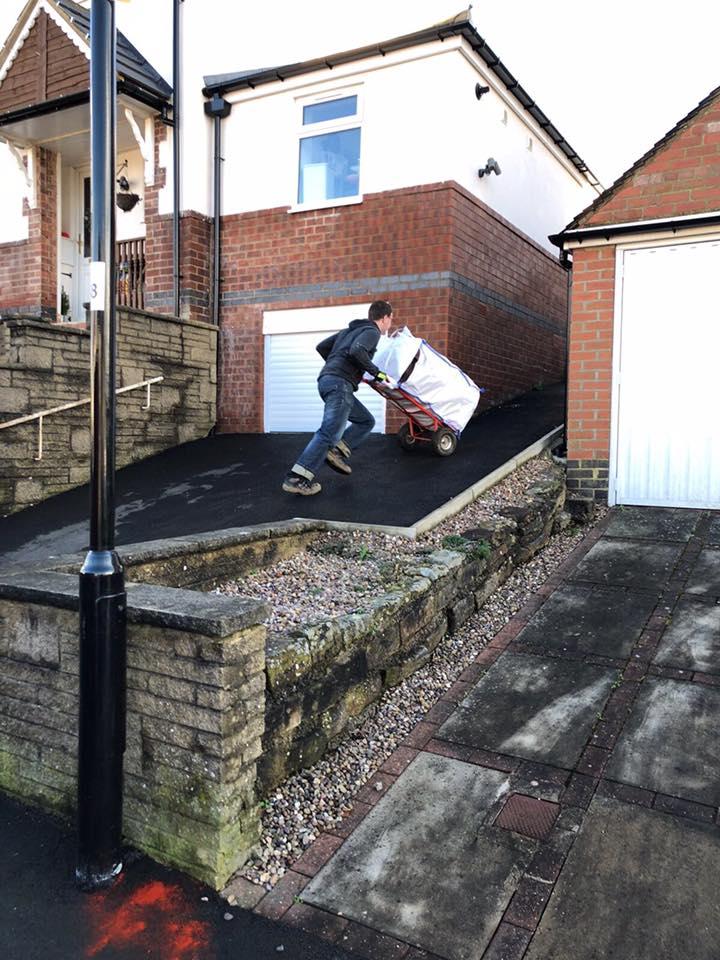 Barrow bags and sack trolly