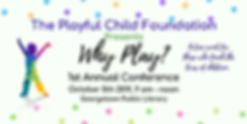 The playful child conference info logo.p