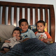 Kade & his brothers at home