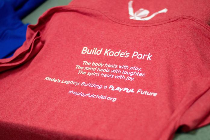 Get Your Shirt Today!  Help Build Kade's