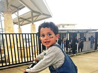 Kade on his bike