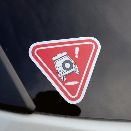 MNFR Part Number: 4X040 - Tippy Tent Sticker