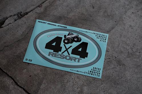 MNFR Part Number: S-33 - 4x4 Resort Sticker