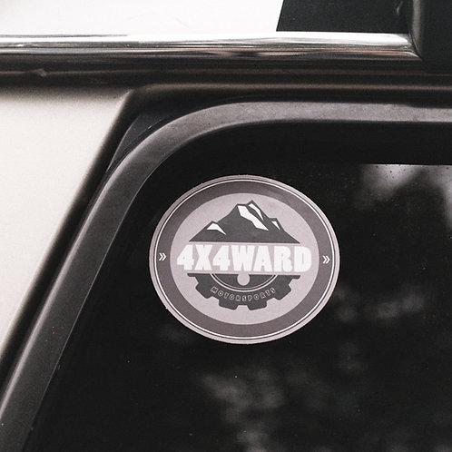 MNFR Part Number: 4X002 - Monochrome Round Sticker