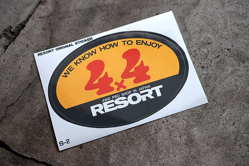 MNFR Part Number: S-2 - 4x4 Resort Sticker