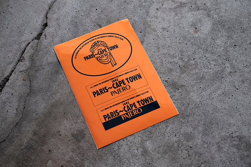 MNFR Part Number: IM003 - Pajero Paris Rally Sticker