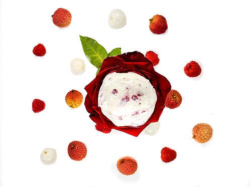 Lychee w/ Raspberry Rose Swirl
