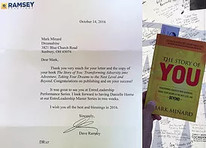 Letter of appreciation for Mark Minard from Dave