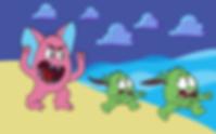 Kiwi Monsters Running