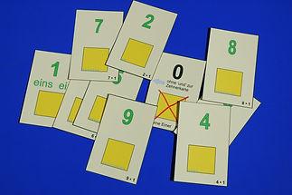 Beispielkarten Sag die Zahl
