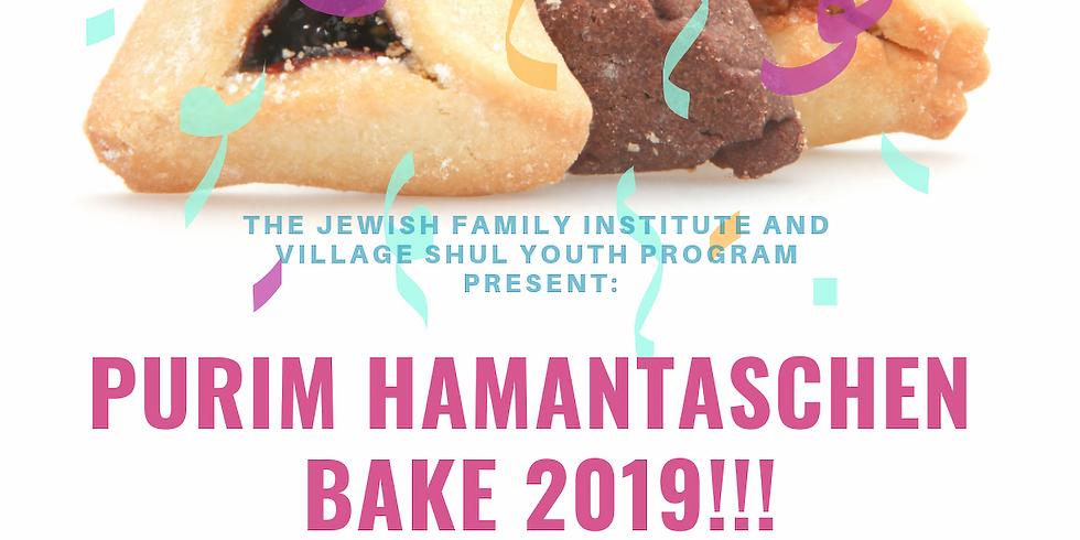 2019 Purim Hamantaschen Bake at The Village Shul