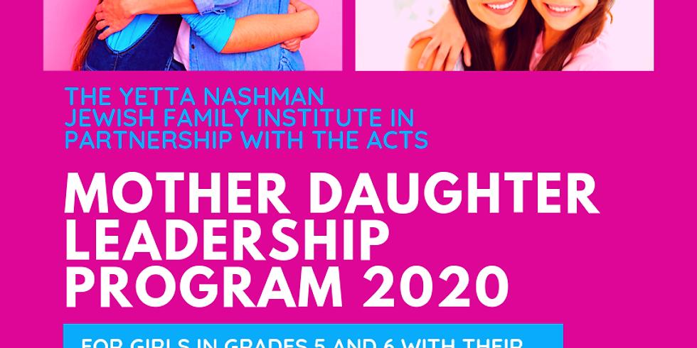 Mother Daughter Leadership Program Thornhill 2020