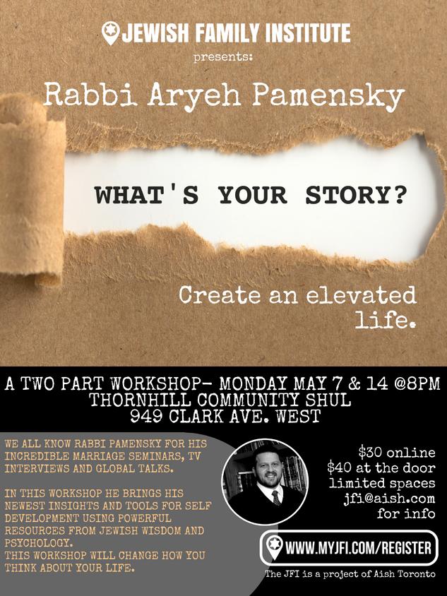 Rabbi Aryeh Pamensky Whats your story fi