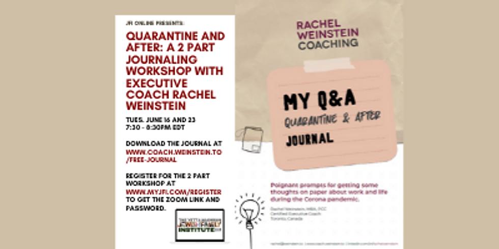 Q and A Journal Workshop with Rachel Weinstein