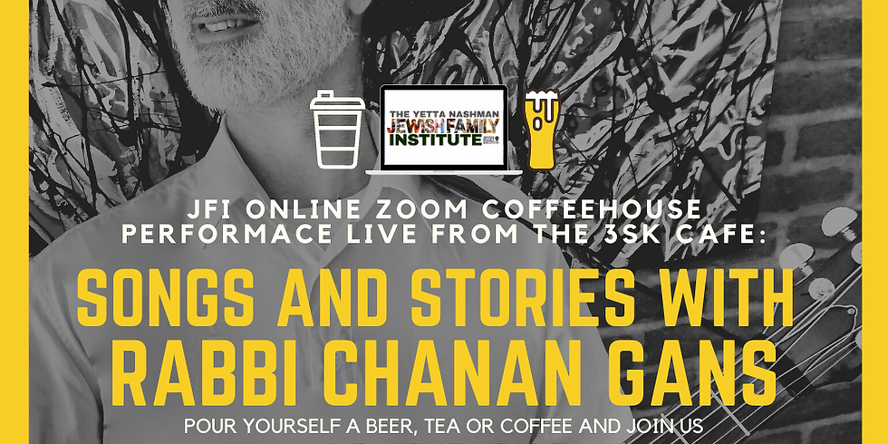 Monday Night Zoom Cafe with Rabbi Chanan Gans