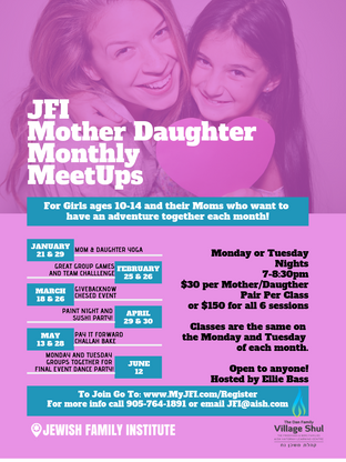 Village Shul MOTHER DAUGHTER MONTHLY MEE
