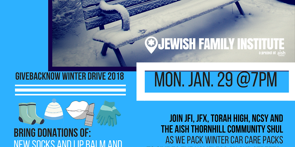 2018 Winter Weather GiveBackNow at Aish Thornhill