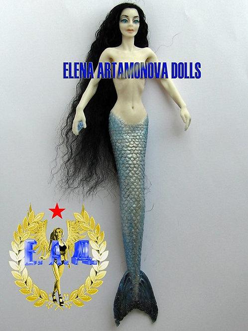 Silicone handmade mermaid. 1:8. Artamonova dolls