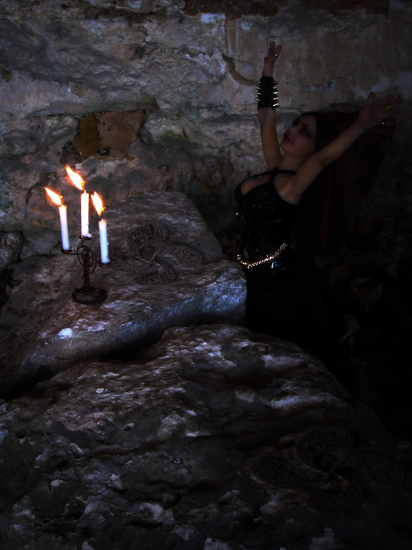 Itziar en un ritual.