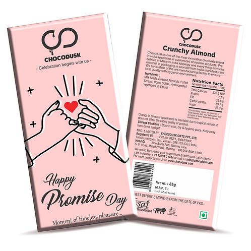 Happy Promise Day Chocolate Bar, 85 gram